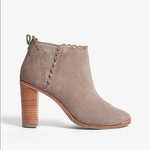 Ted Baker Scalloped Suede Ankle Boots